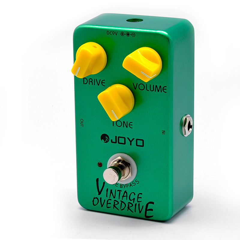 "Overdrive Pedal ""Joyo JF-01"" - Vintage Distortion Guitar Pedal, True Bypass, Metal Body OA5171"
